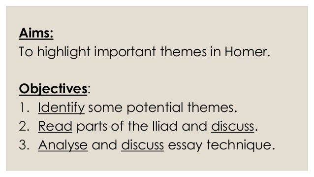 the iliad themes and essay structure week