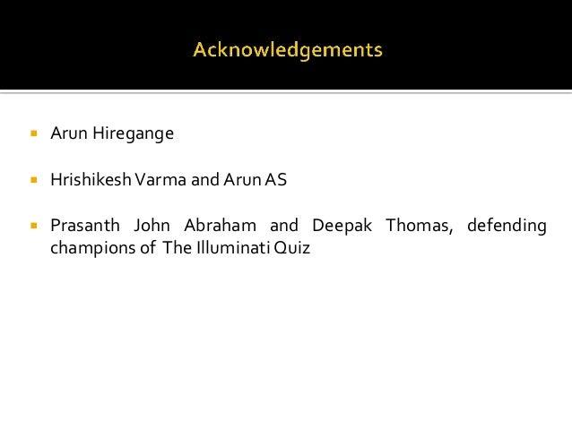 The Illuminati Quiz 2013 at Model Engineering College, Kochi - The Fi…