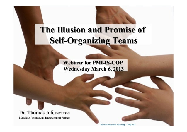 The Illusion and Promise of                   Self-Organizing Teams                                      Webinar for PMI-I...
