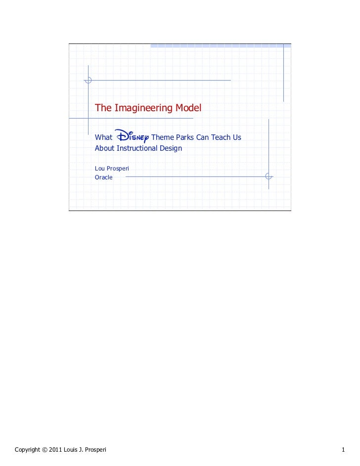The Imagineering Model                             What    Disney   Theme Parks Can Teach Us                             A...