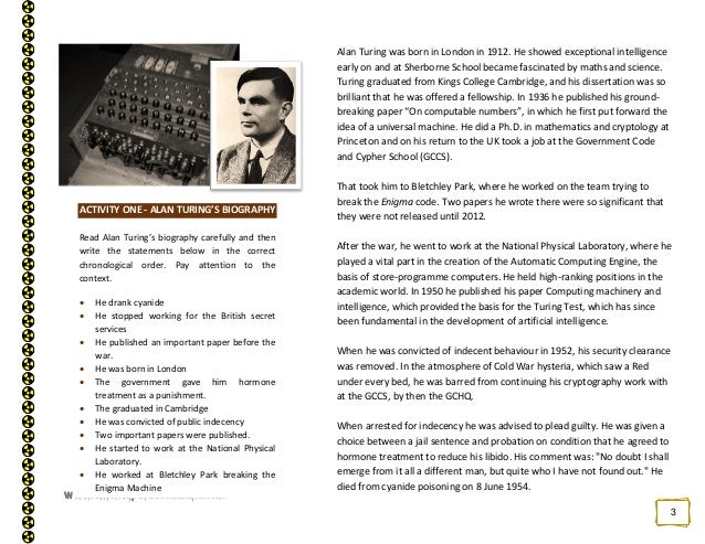 who is alan turing essay