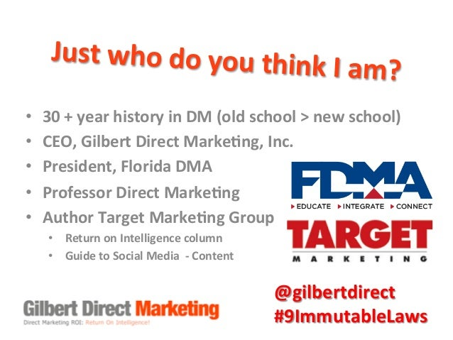 Just  who  do  you  think  I  am?   • 30  +  year  history  in  DM  (old  school  >  new...