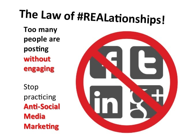 Too  many   people  are   pos9ng   without   engaging      Stop   prac=cing   An9-‐Social   Media ...
