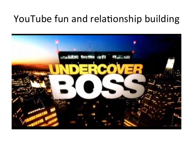 YouTube  fun  and  rela=onship  building