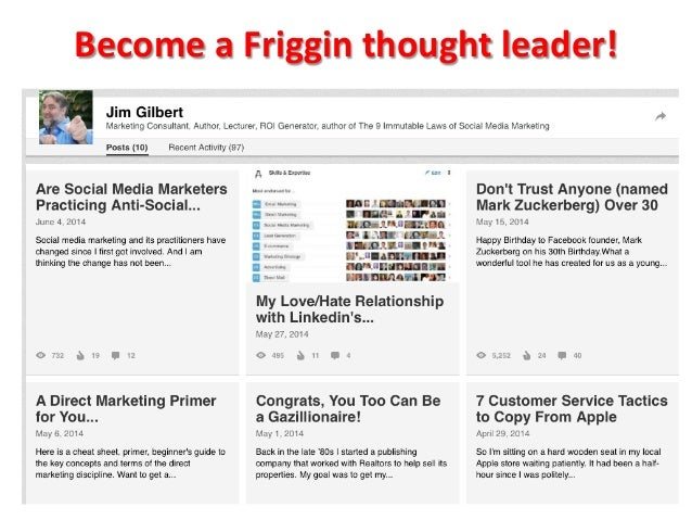 Become  a  Friggin  thought  leader!