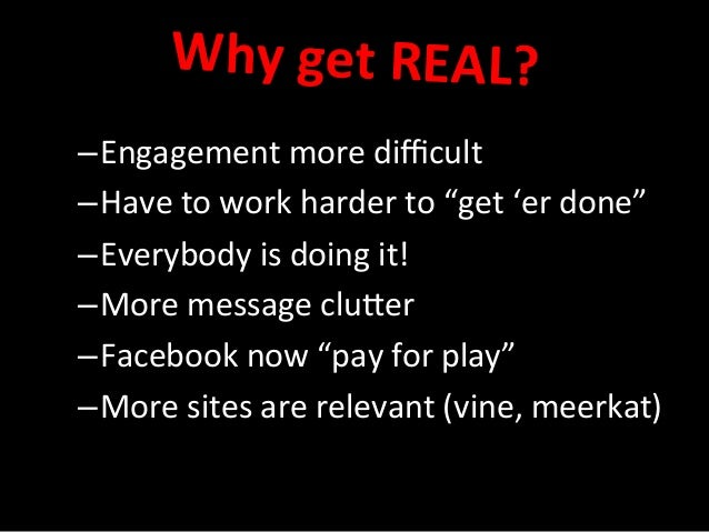 """–Engagement  more  difficult   –Have  to  work  harder  to  """"get  'er  done""""   –Everybody  is  ..."""