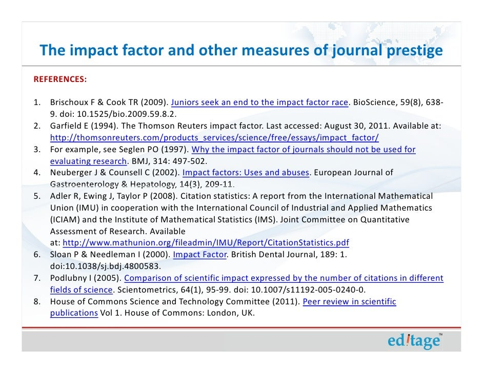 journal of scientific research and essays impact factor
