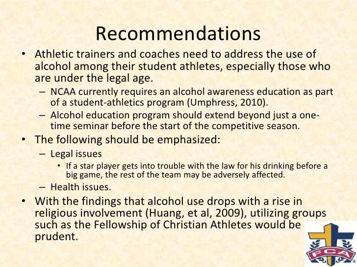 drug and alcohol use by student athletes Measuring drug and alcohol use among college student-athletes∗ james n druckman, northwestern university mauro gilli, northwestern university samara klar, university of arizona.