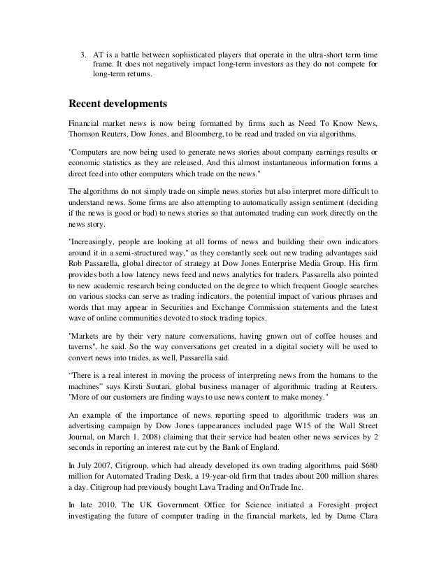 the impact of algorithmic trading Market impact of algorithmic trading: a reconciliation michael c tseng soheil mahmoodzadeh ramazan gen˘cay § october 10, 2017 abstract high frequency algorithmic trading has impacted market quality both positively and nega.