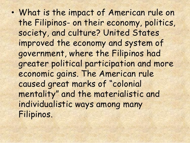 impacts of colonial mentality among filipinos essay Open access academic research from top universities on the subject of race, ethnicity and post-colonial studies  filipino colonial mentality  among filipinos in .