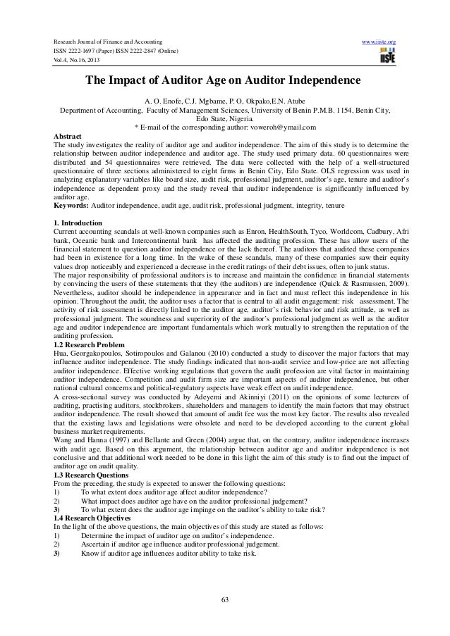 Research Journal of Finance and Accounting ISSN 2222-1697 (Paper) ISSN 2222-2847 (Online) Vol.4, No.16, 2013  www.iiste.or...