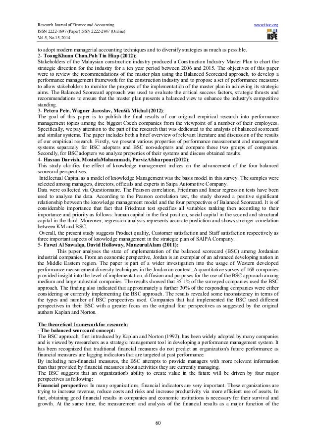 the effects of cfo balanced scorecard essay The balanced scorecard is a strategy performance management tool – a semi- standard structured report, that can be used by managers to keep track of the  execution of activities by the staff within their control and to monitor the  consequences arising from these actions  balanced scorecard is an example  of a closed-loop controller or cybernetic.
