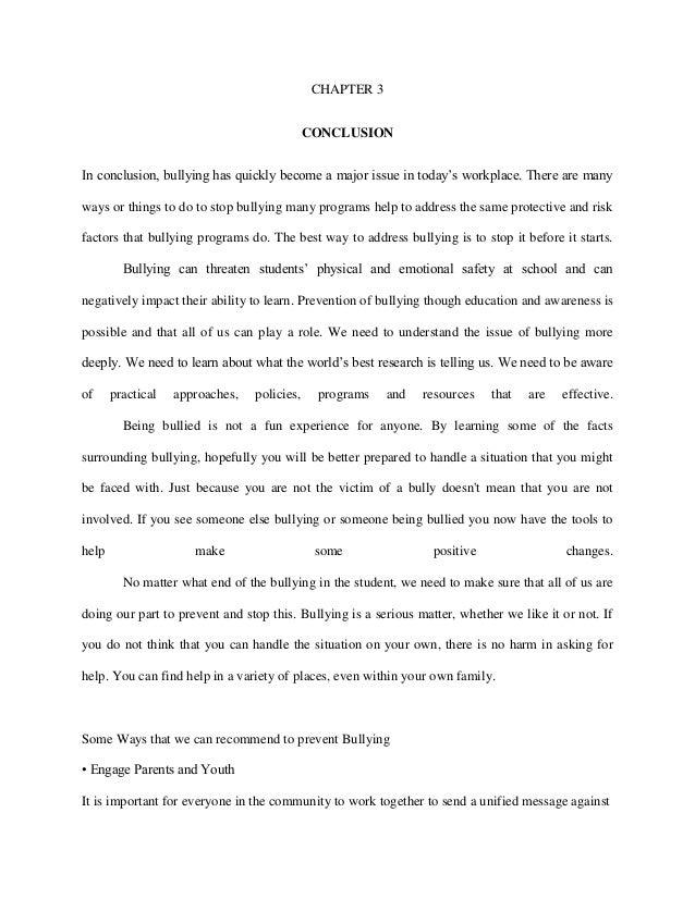 persuasive essay on bullying