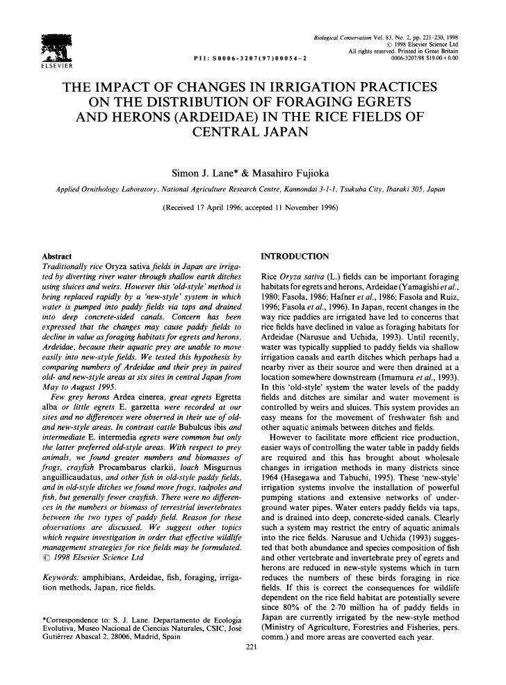 Biological Conservation Vol. 83, No. 2, pp. 221 230, 1998                                                                 ...