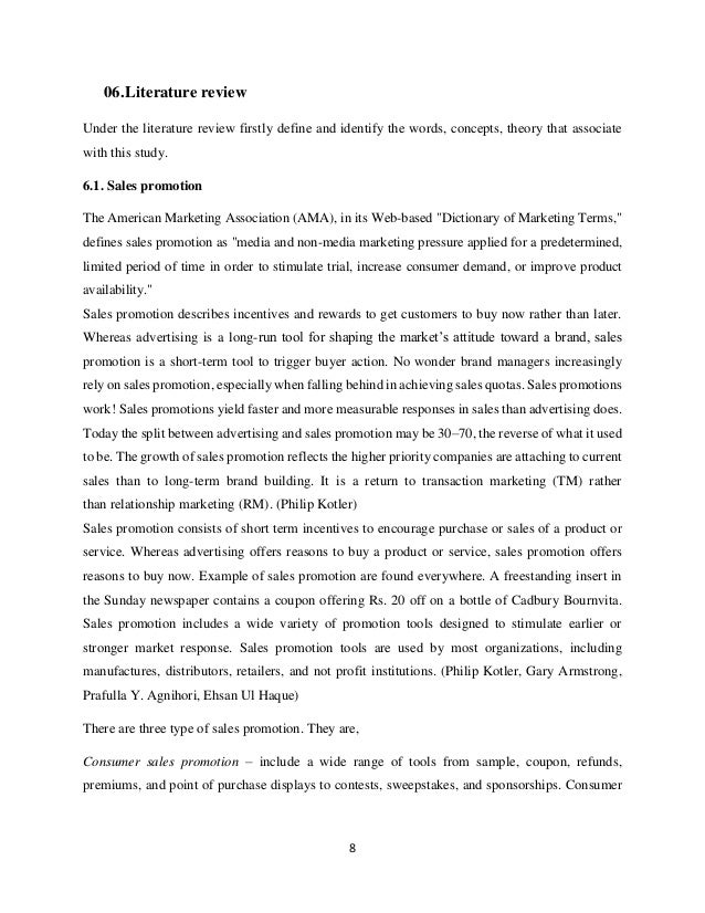 Literature review on buyer behaviour