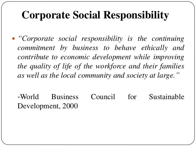 the effect of corporate social responsibility Since csir and csr are a divergent construct, we treat them as separate  constructs and examine the effects of responsible corporate social behavior ( csr.