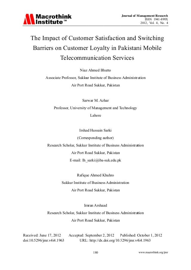customer satisfaction in the mobile telecommunications The american customer satisfaction index, the nation's only cross-industry measure of customer satisfaction, gives businesses science-based insights across the complete arc of the customer experience.