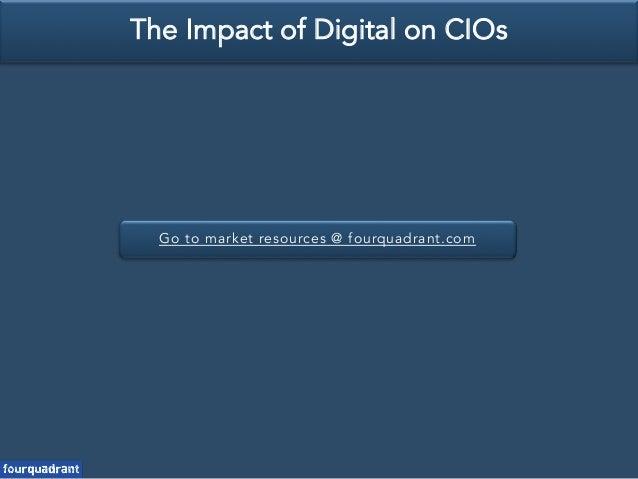 Go to market resources @ fourquadrant.com The Impact of Digital on CIOs