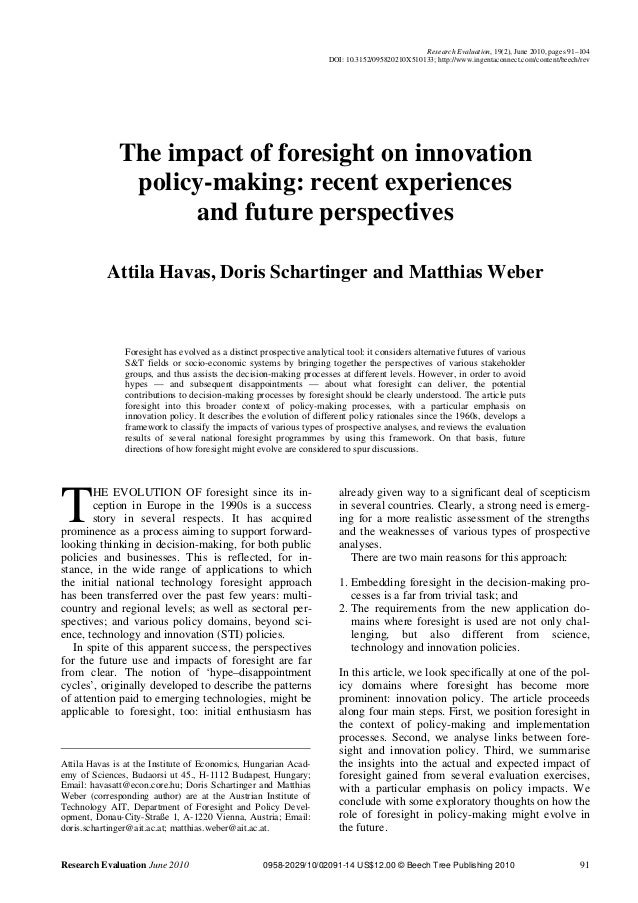 Research Evaluation, 19(2), June 2010, pages 91–104                                                                     DO...