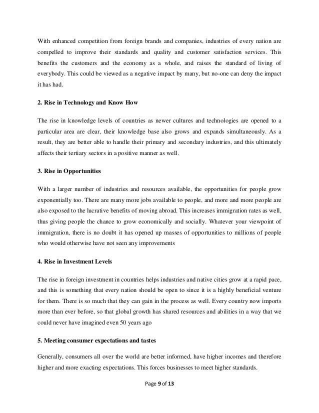 Negative impact of globalization essay