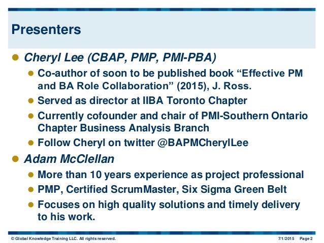 PMI-PBA® Certification Exam Study Guide - PMI Professional ...