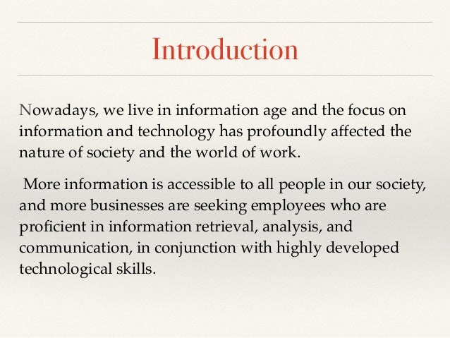 characteristics of information age