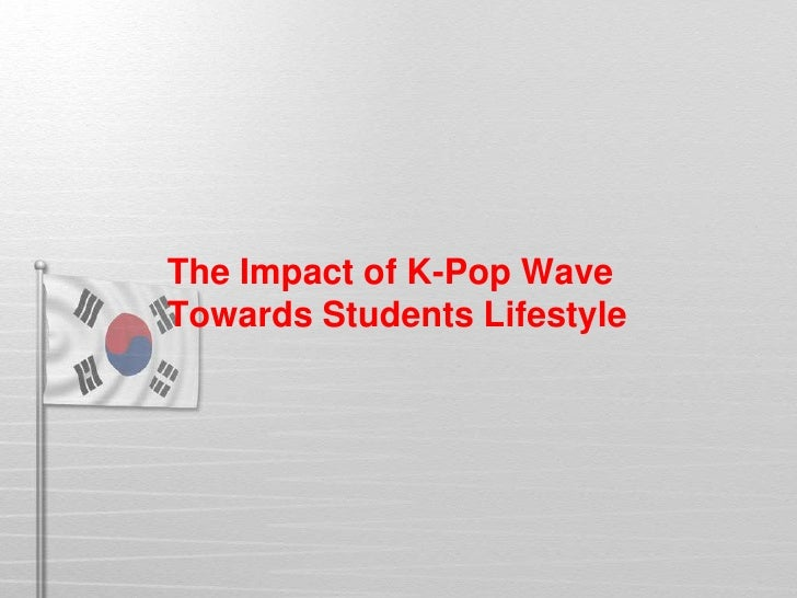 The Impact of K-Pop WaveTowards Students Lifestyle