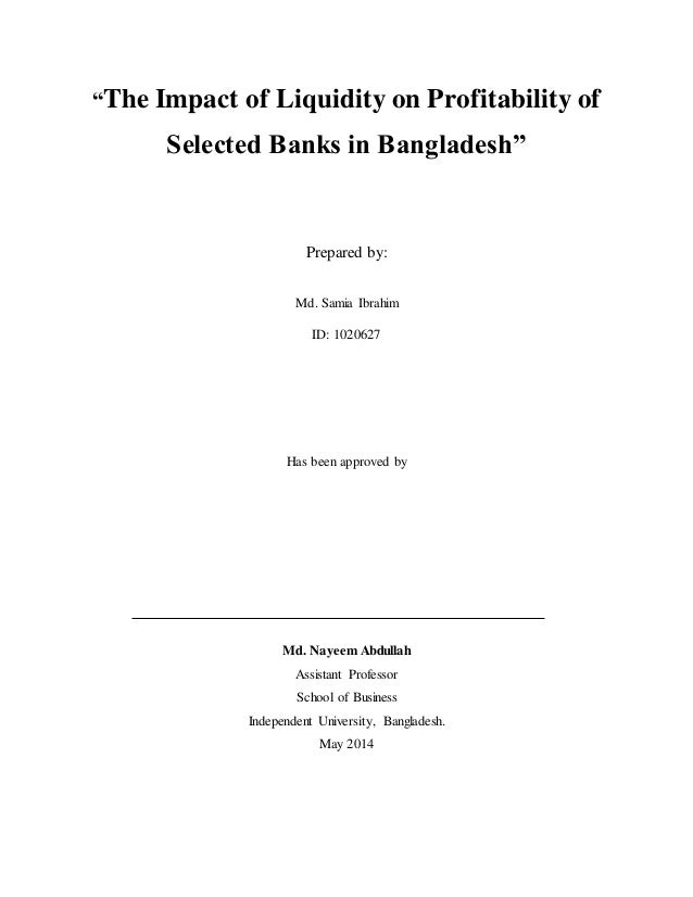 the impact of privatization on banks profitability Impact of capital structure on banking profitability  by 1991 privatization policy was  structure have a significant impact on the profitability of banks or.