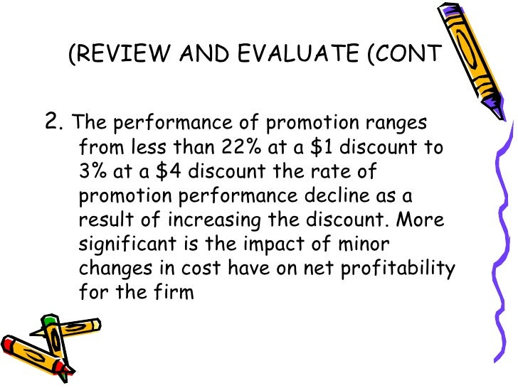 the influence of sale promotion on The effect of sales promotion on organizational performance  sale promotion  of age will influence our perception and.