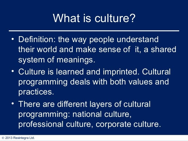 discuss the impact of national culture Therefore, in order to discuss how the culture differences impact the international business, we must understand what organizational culture is from (morrison, 2006, p195), organizational culture or corporate culture, like national culture, focuses on values, norms and behavioral patterns shared by the organization.