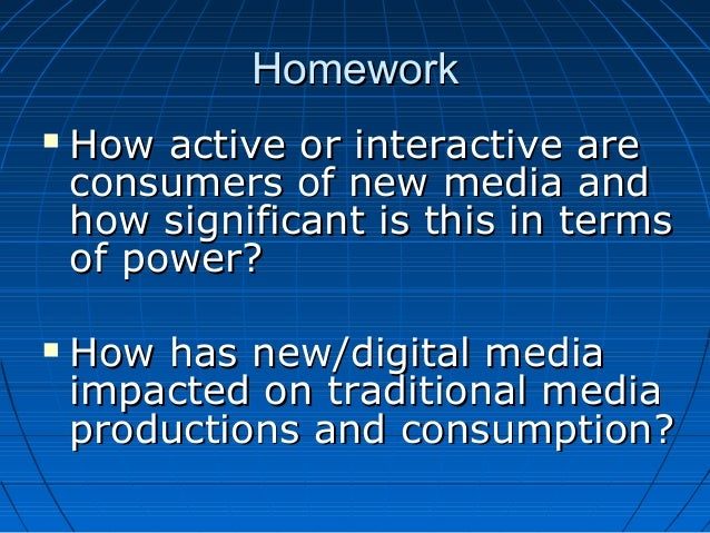 the impact of new media on The use of new media or better pronounce social media has expand it leverage and traction among africans in today's globalization where the internet (20) ha.