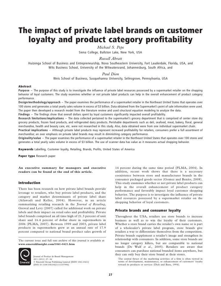 impact of advertising on consumer brand loyalty Impact of customers satisfaction and customers retention on customer loyalty  satisfaction has direct impact on loyalty.