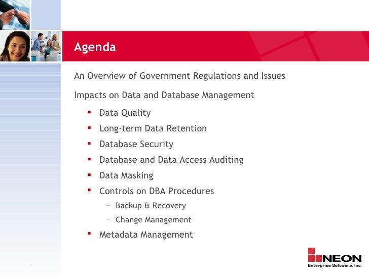 database regulatory compliance