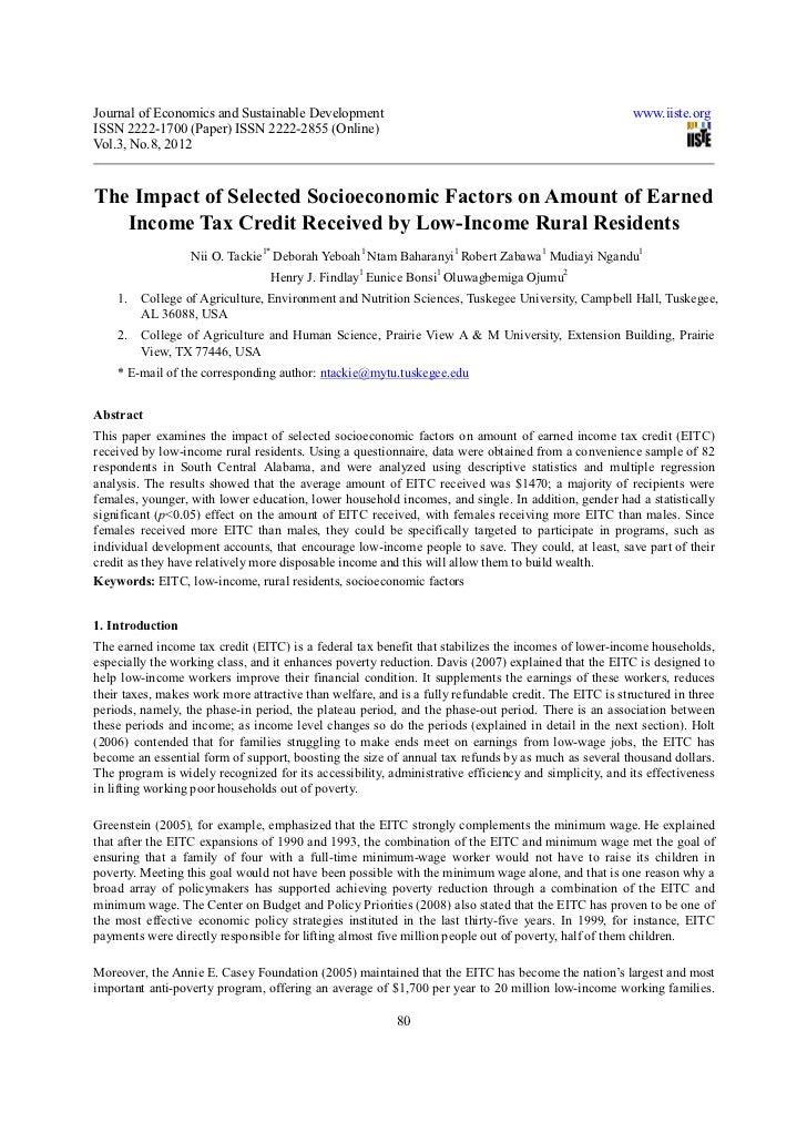 Journal of Economics and Sustainable Development                                                       www.iiste.orgISSN 2...