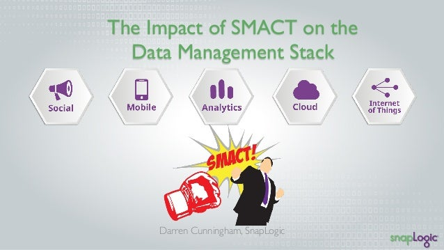 The Impact of SMACT on the  Data Management Stack  Darren Cunningham, SnapLogic