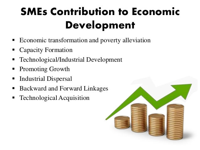 contribution in sme Contribution from new areas of growth in the business services segment, including telecommunications,  national sme development council the malaysian economy 13.