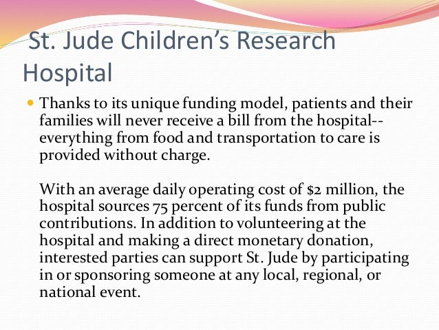 st jude childrens research hospital Watch, interact and learn more about the songs, characters, and celebrities that appear in your favorite st jude children's research hospital tv commercials watch the commercial, share it with friends, then discover more great st jude children's research hospital tv commercials on ispottv.