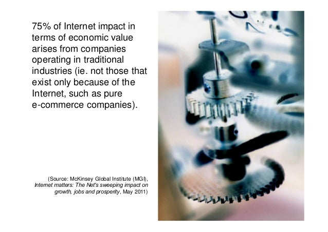 "impact of internet n business Just as crucial is the impact of so-called ""network effects"" as online business moves be considered an internet business."