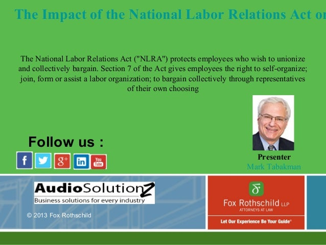 National labor relations act formation of