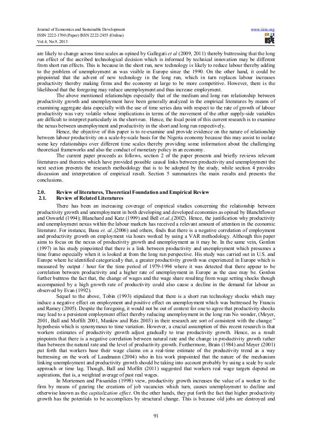 the economic effects of unemployment in nigeria Abstract- this study examines the impact of unemployment on the economic growth of nigeria from 1985 to 2010 the ordinary least squares (ols) and augmented dickey-fuller methods are used to estimate the model of one dependent variable (real gdp growth rate) and two explanatory variables ( inflation and.