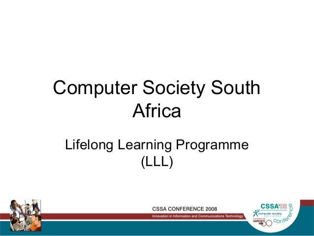 Computer Society South Africa Lifelong Learning Programme (LLL)