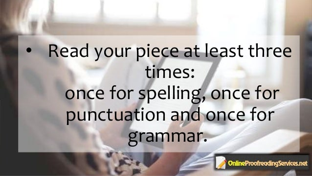 Online professional proofreading
