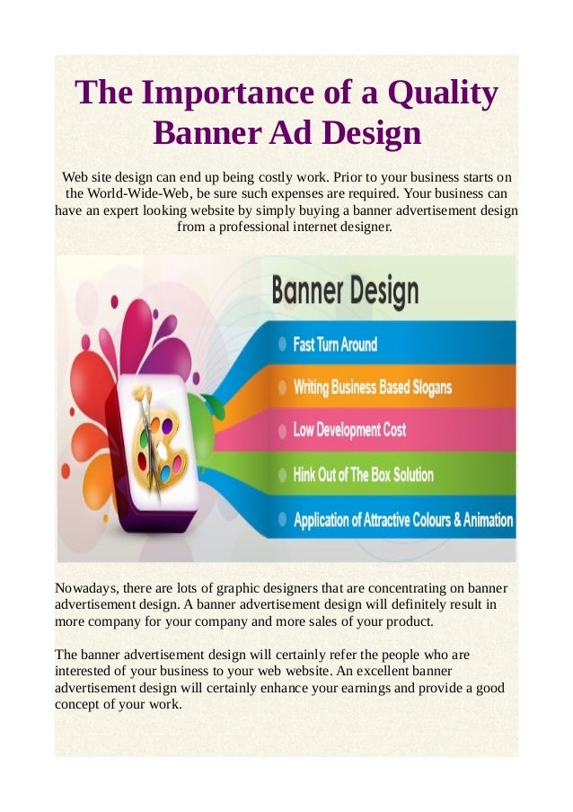 The Importance Of A Quality Banner Ad Design