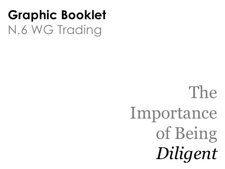 Graphic BookletN.6 WG Trading                          The                  Importance                    of Being        ...