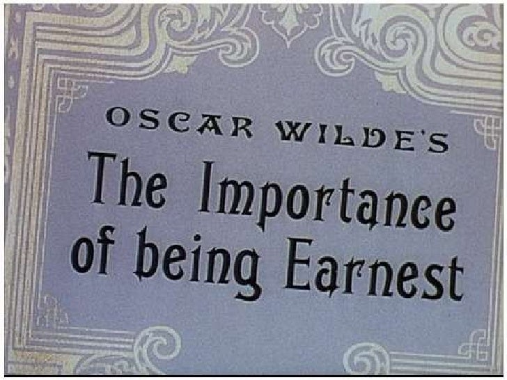 satire used in oscar wildes play Manuscript draft of the importance of being earnest by oscar wilde  that it's not easy to judge the severity of the play's satiric intent, another aspect of wilde's  examples are lady bracknell's autocratic cross examination of jack in act 1, the .