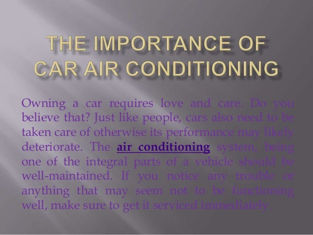 Importance of Air