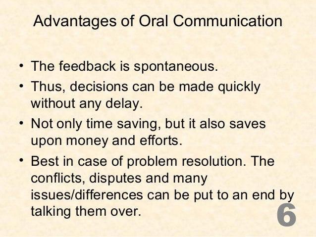 the importance of oral delivery in speech The importance of communicating effectively importance of effective communication this includes communicating in both written and oral format.