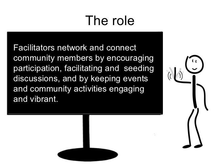 The importance of community facilitation Slide 3