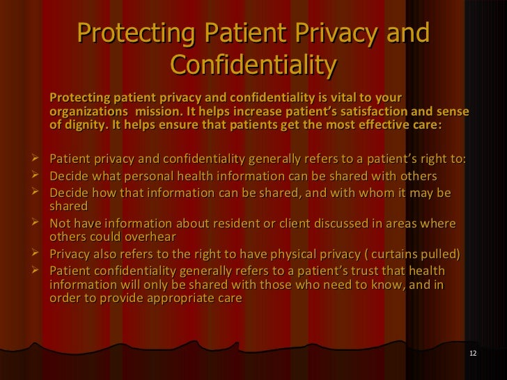 importance of patient confidentiality essay In today's increasingly litigious and highly competitive workplace, confidentiality is important for a host of reasons: failure to properly secure and prot.