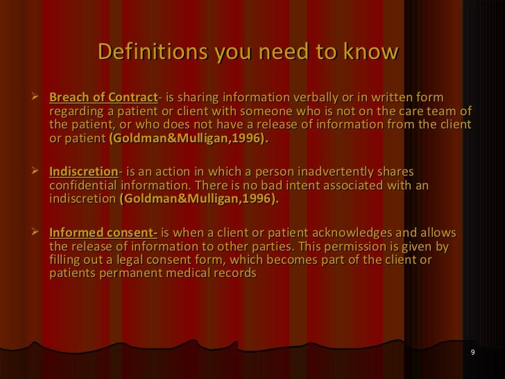 Client confidentiality why is it important